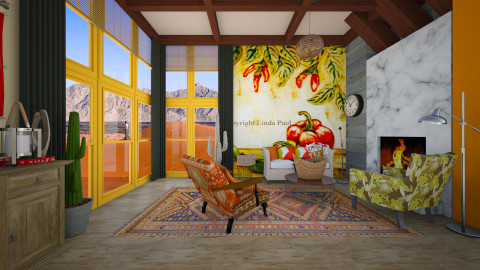 mexican design - Country - Living room  - by Evangeline_The_Unicorn