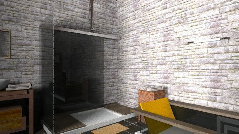 saladeban5 - Rustic - Bathroom  - by izarochaa
