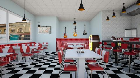 Diner - Retro - Dining room - by Psweets