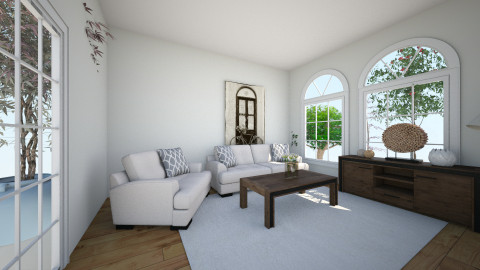 gosc - Living room - by gabrysia347