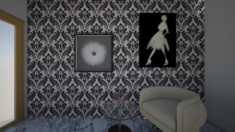 Black and White - Minimal - Bathroom  - by gillianholtz