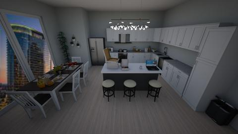 Dining Kitchen - Modern - Kitchen  - by diyasriraman783
