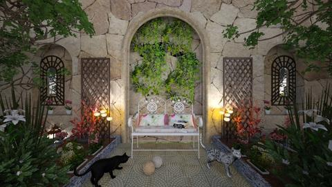 M_ Garden rest - Garden  - by milyca8
