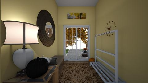Autumn Hallway - by Purple_Frxgs2222222