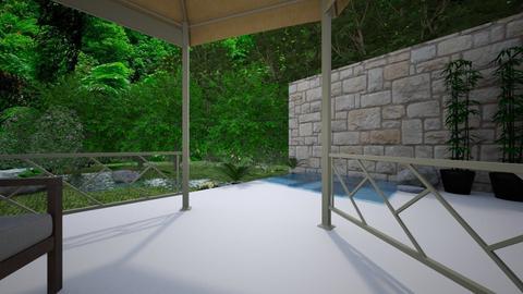 Rainforest patio - Garden  - by Idkwhy