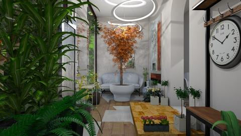 Urban Jungle Hallway - Modern - Garden  - by AngieDrws