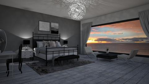 black and white - Bedroom  - by Gagany