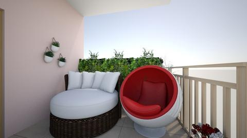 Small Patio Seating - Eclectic - Garden  - by belleO