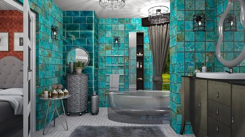 turquoise bathroom  - Eclectic - Bathroom  - by Ida Dzanovic