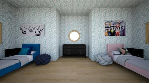 twin bed - Bedroom  - by KeeKeethe bear
