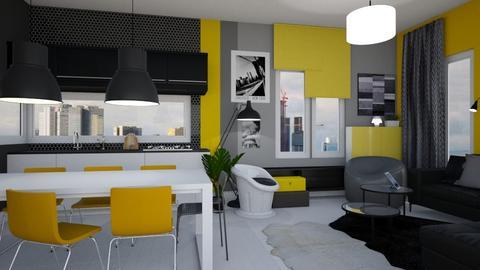 Yellow Liv - Living room  - by Eleonor Debus
