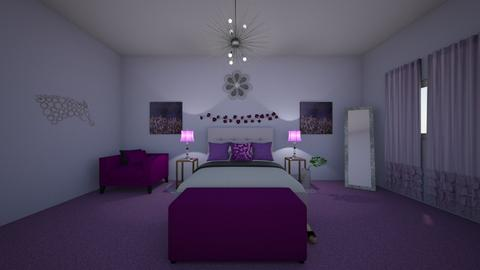 Purple life - Bedroom  - by Alima Aydin