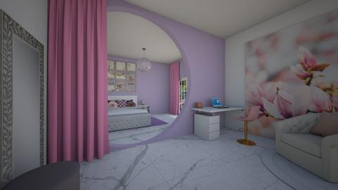Pink and purple bedroom - by Audrey17