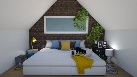 Attic Room - Modern - Bedroom  - by crystal_clear_skies