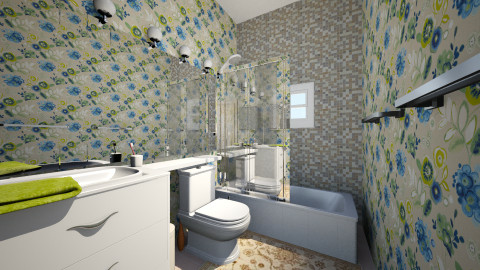 cobalt br - Eclectic - Bathroom  - by Elizabeth Lincoln