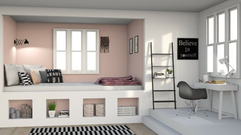 Bed nook - Minimal - Bedroom  - by deleted_1587966089_ArcticMoon