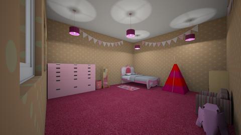 Little girl bedroom - Bedroom  - by Sophia_Pavate_