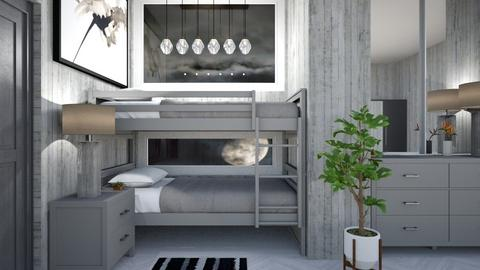 grey rustic bedroom - Bedroom  - by Corzer