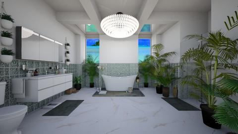 Jungle Bathroom - Modern - Bathroom  - by Sophia Cooper