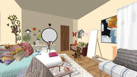 Mi cuarto ideal - Vintage - Living room  - by abi12