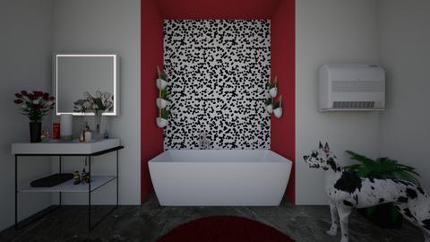 Cruella de Vil Bathroom - Modern - Bathroom - by InteriorQueen0919