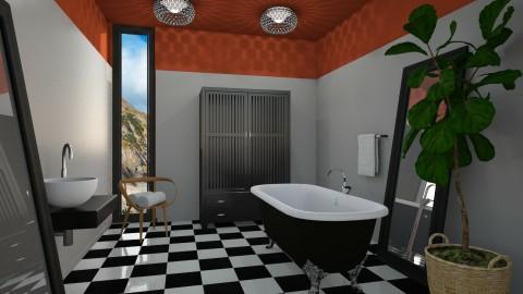 Graphic Gray - Modern - Bathroom  - by 3rdfloor