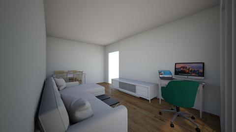 Tip L pe Centru  - Living room  - by tkadi21