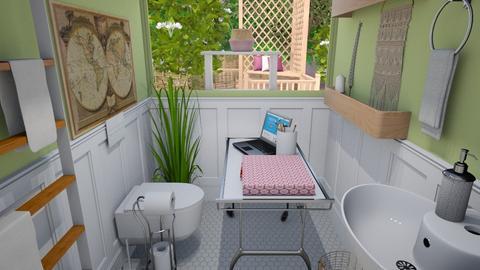 My Other Office - Bathroom  - by janAllan