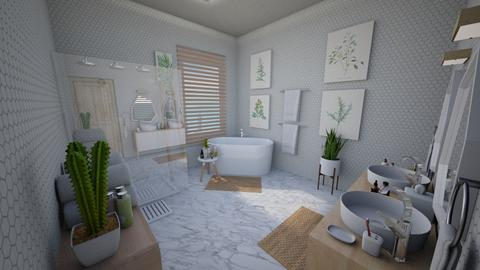 Calm Studio Bath View1 - Modern - Bathroom - by musicdesign22