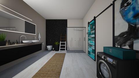bath in black - Bathroom  - by vasilikif