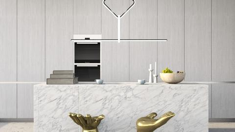 clean modern kitchen - by anamarijag00