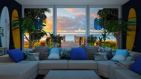 Serfing living room - Living room  - by rechnaya