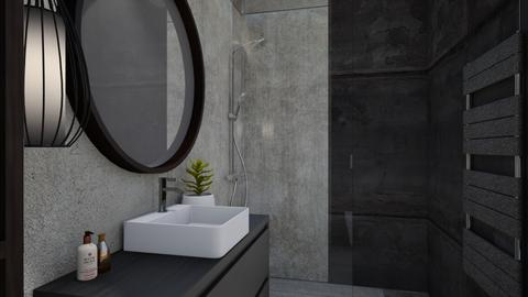 anthracite - Modern - Bathroom  - by szaboi