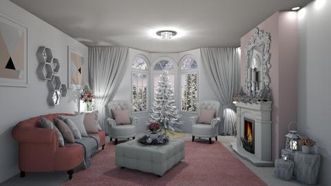 PINK CHRISTMAS - Living room - by creato