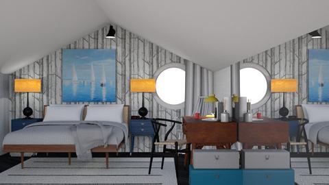 attic bedroom - Vintage - Bedroom  - by HenkRetro1960
