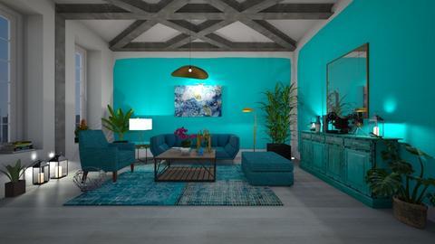 Turquoise Metal Living - by Themis Aline Calcavecchia