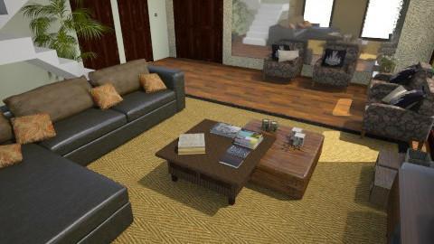 sala rustica  - Rustic - Living room  - by beatrizrauta