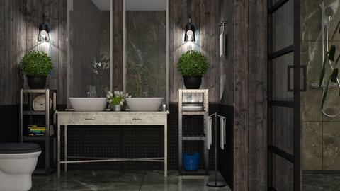 Industrial_Bath - Bathroom  - by ZuzanaDesign