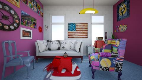 KITSCH - Living room  - by alexanderoneill