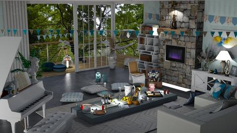 inside picnic PARTY - Living room  - by nat mi