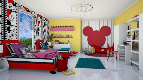 Mickey Minnie - Kids room - by meggle