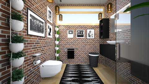 Brick Bar Bath - Bathroom - by ilikalle
