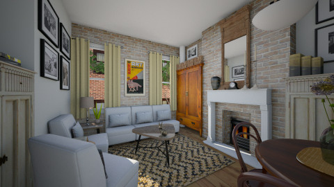 Village Apt Living - Eclectic - Living room  - by russ