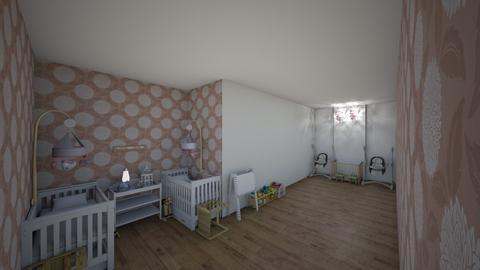 Baby Nursery Twin Girls - by 0oMADYo0