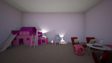 pink bedroom - Bedroom  - by abakolis1663