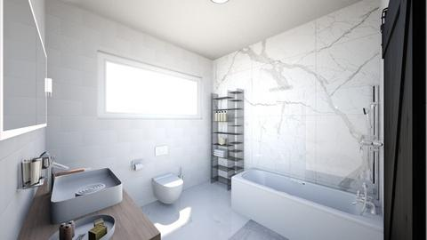 White Bathroom 3x3m - Minimal - Bathroom  - by annlmh