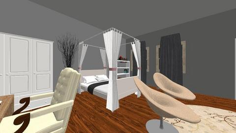 random room - Retro - Bedroom  - by Hellmara