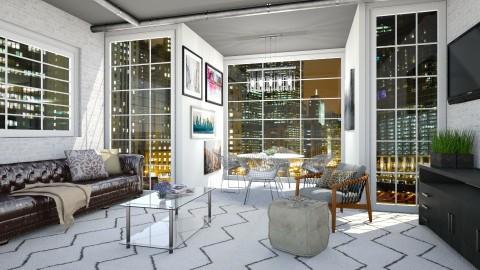 Chicago Nights - Living room  - by bgref