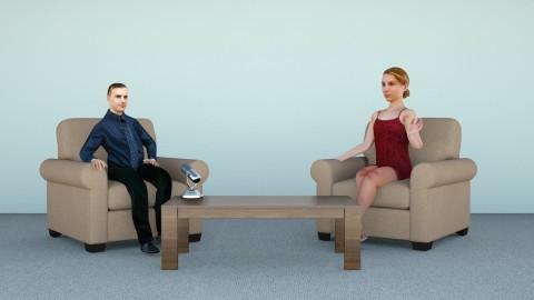 Interviewer setup 1seat - Minimal - Office  - by hernankern