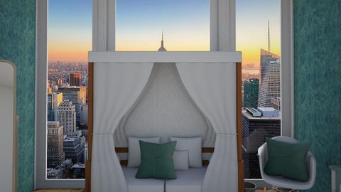 turquoise bedroom - by KierraClumdesign